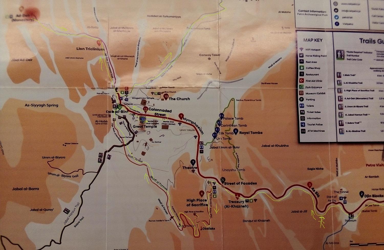 Mapa Petry, Jordánsko