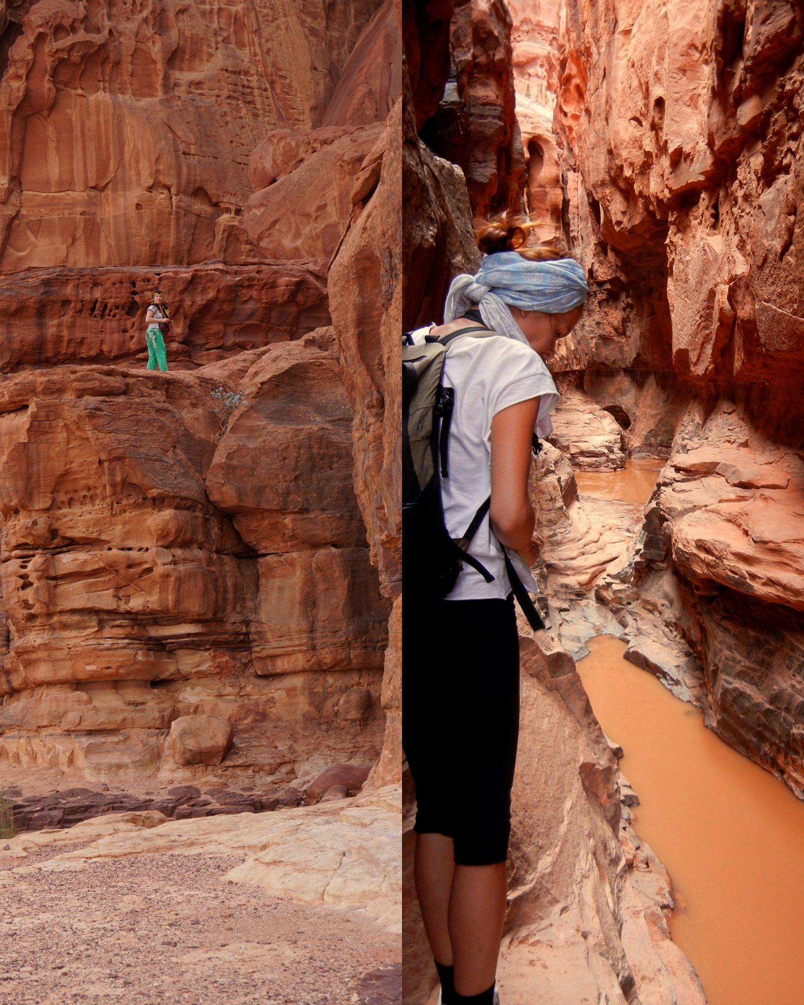 Jordánsko - Kaňon Khazali (Wadi Rum)