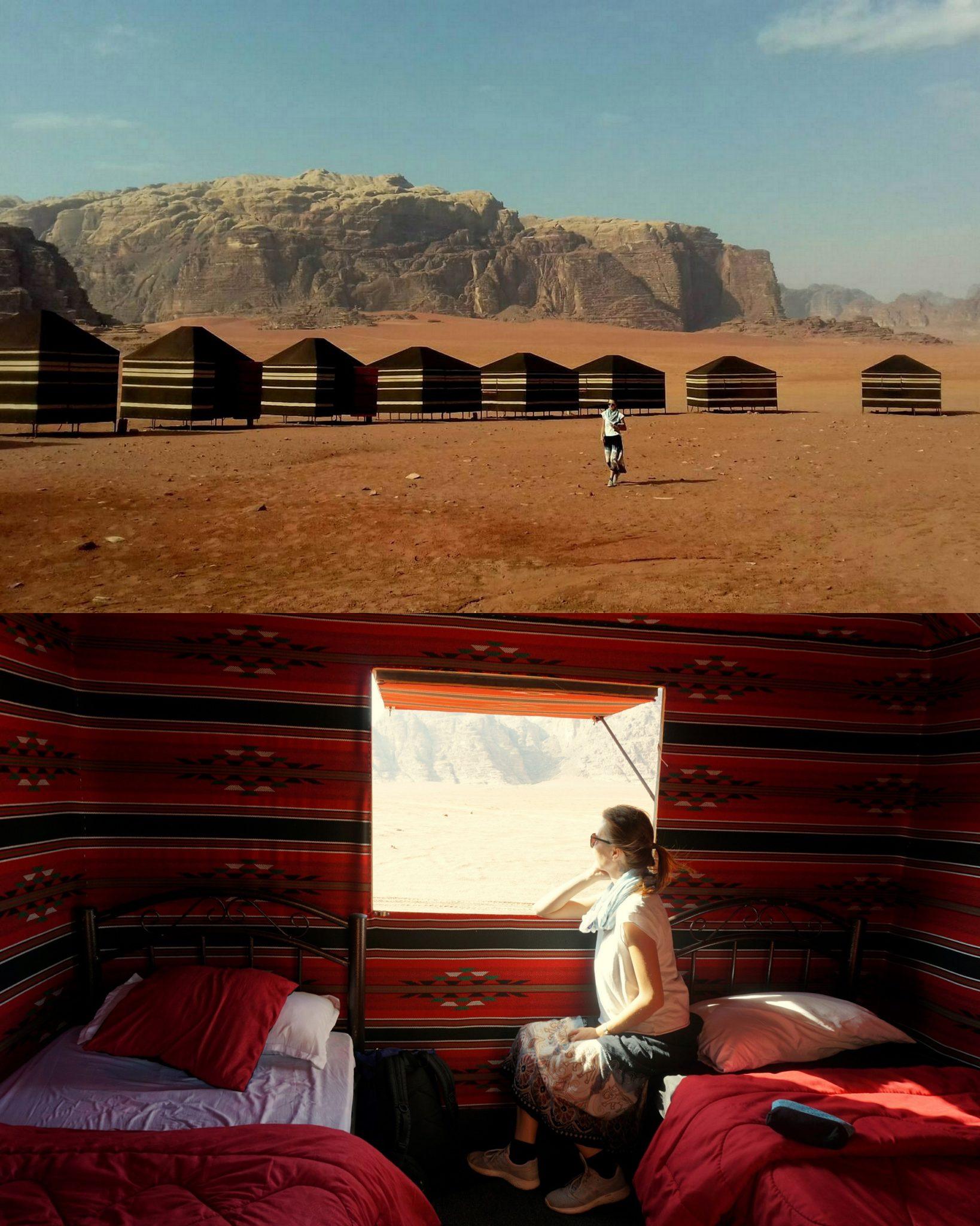 Jordánsko - Red desert camp (Wadi Rum)