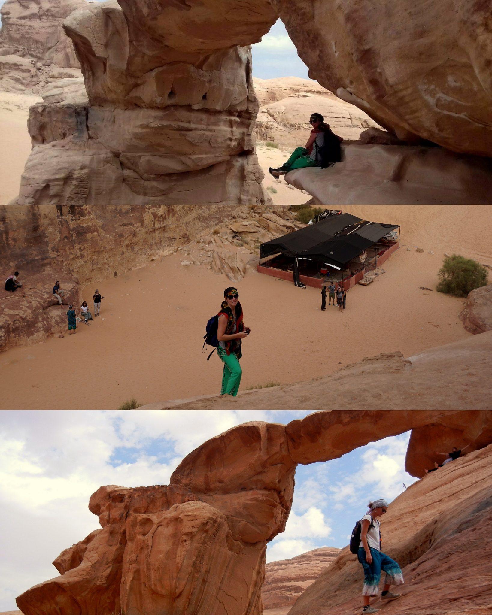 Jordánsko - Velký skalní most (Wadi Rum)